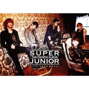 "Album art for Super Juniors album ""Bonamana"""