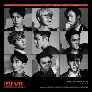 "Album art for Super Junior's ""Devil"""