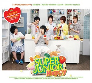 "Album art for Super Junior - H's album ""Happy"""