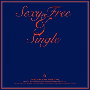 "Album art for Super Junior's album ""Sexy, Free & Single"""