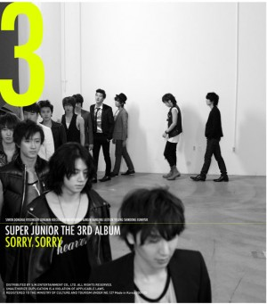 "Album art for Super Junior's album ""Sorry Sorry"""