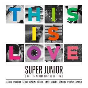 "Album art for Super Junior's album ""This Is Love"""