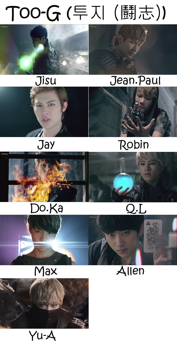 "The members of BTL in the ""Too-G"" MV"