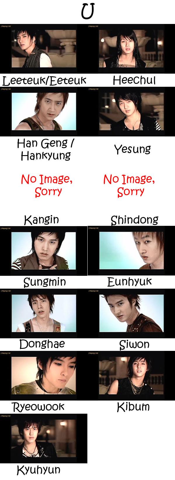 """The members of Super Junior in the """"U"""" MV"""