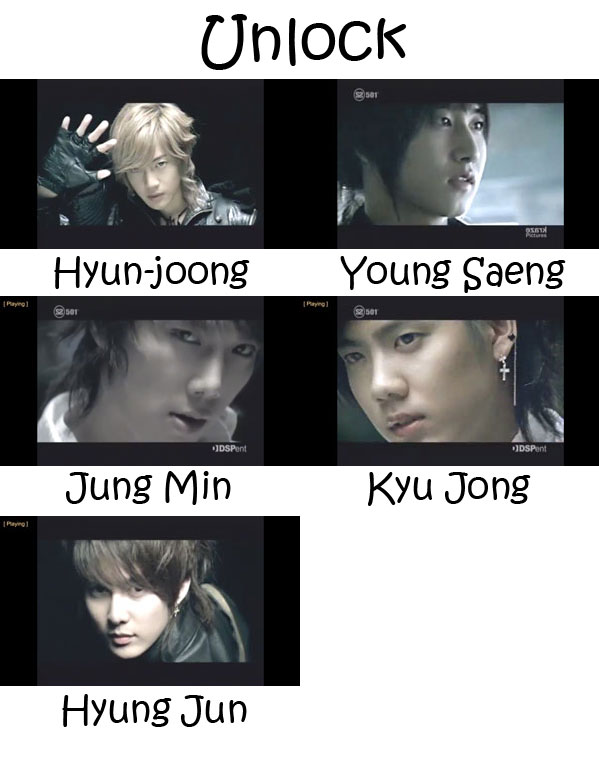"The members of SS501 in the ""Unlock"" MV"