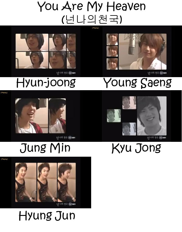 "The members of SS501 in the ""You Are My Heaven"" MV"