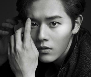 "ZE:A's Dongjun ""First Homme"" promotional picture."