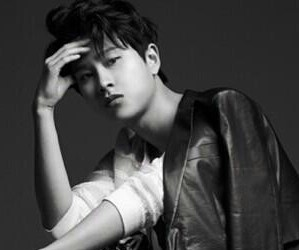 "ZE:A's Minwoo ""First Homme"" promotional picture."