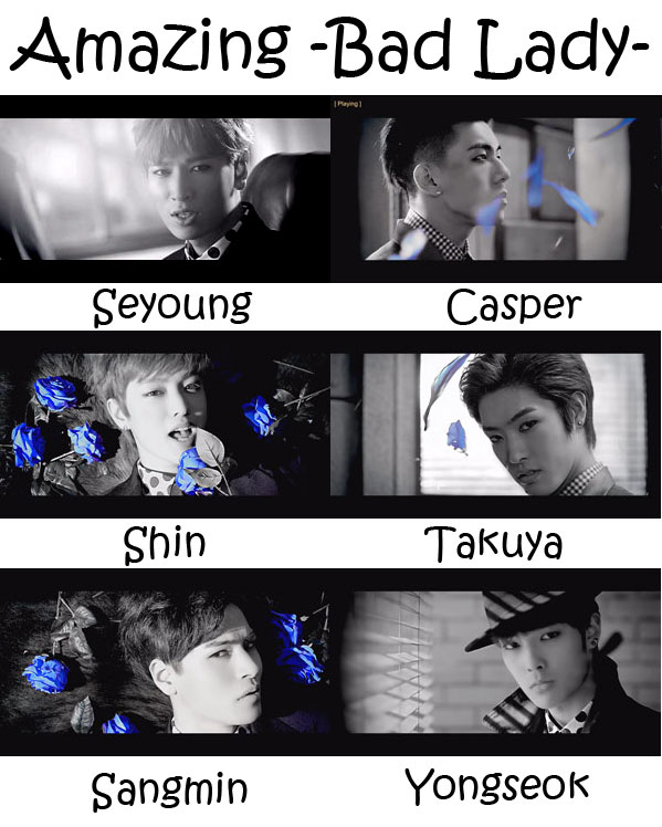 "The members of Cross Gene in the ""Amazing -Bad Lady-"" MV"
