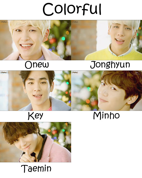 "The members of SHINee in the ""Colorful"" MV"