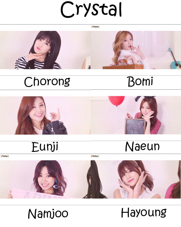 "The members of APink in the ""Crystal"" MV"