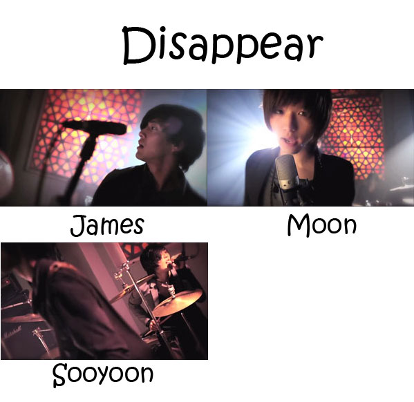 "The members of Royal Pirates in the ""Disappear"" MV"