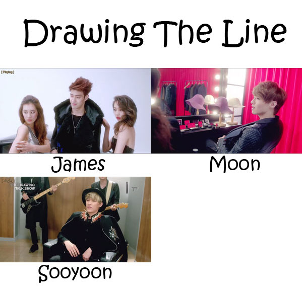 "The members of Royal Pirates in the ""Drawing The Line"" MV"
