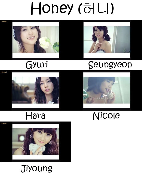 "The members of KARA in the ""Honey"" MV"