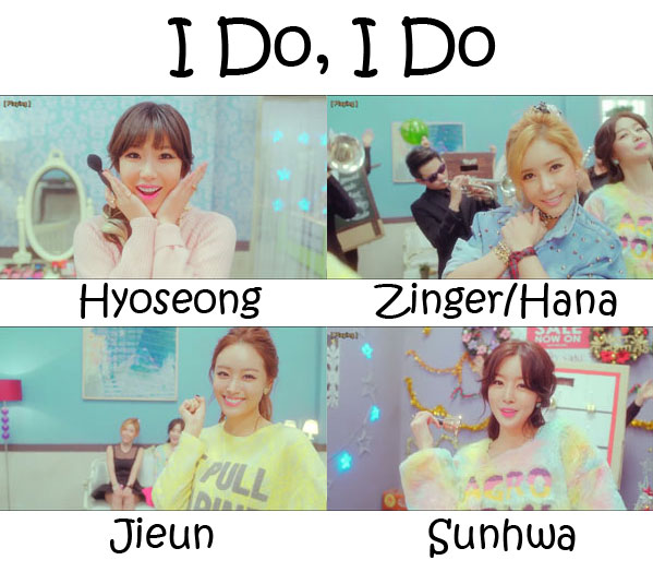 "The members of Secret in the ""I Do, I Do"" MV"