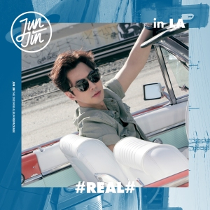 "Album art for Junjin (Shinhwa)'s album ""#Real# In LA"""