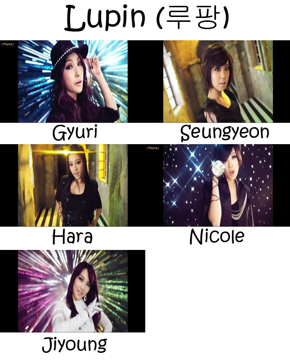 "The members of KARA in the ""Lupin"" MV"
