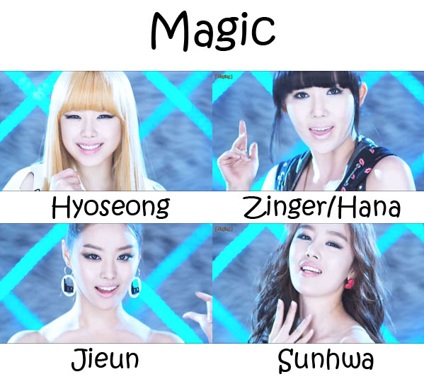 "The members of Secret in the ""Magic"" MV"