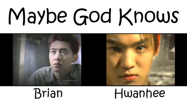"""The members of Fly To The Sky in the """"Maybe God Knows"""" MV"""