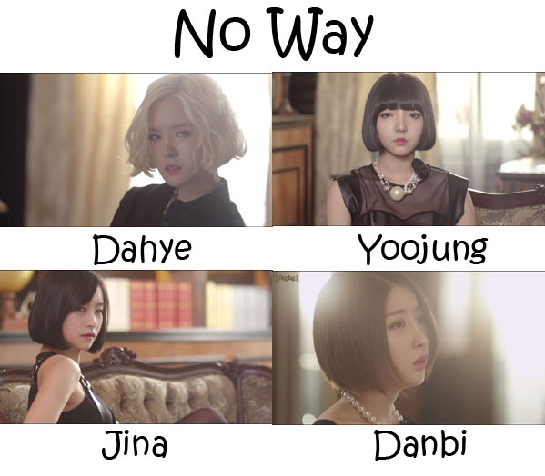 "The members of Bob Girls in the ""No Way"" MV"