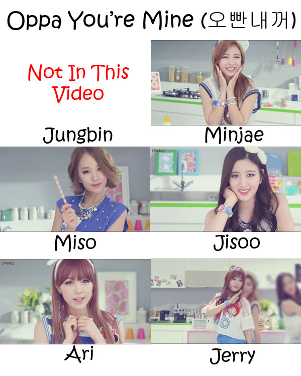 "The members of Tahiti in the ""Oppa You're Mine"" MV"