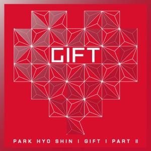 "Album art for Park Hyo Shin's album ""Gift Part 2"""