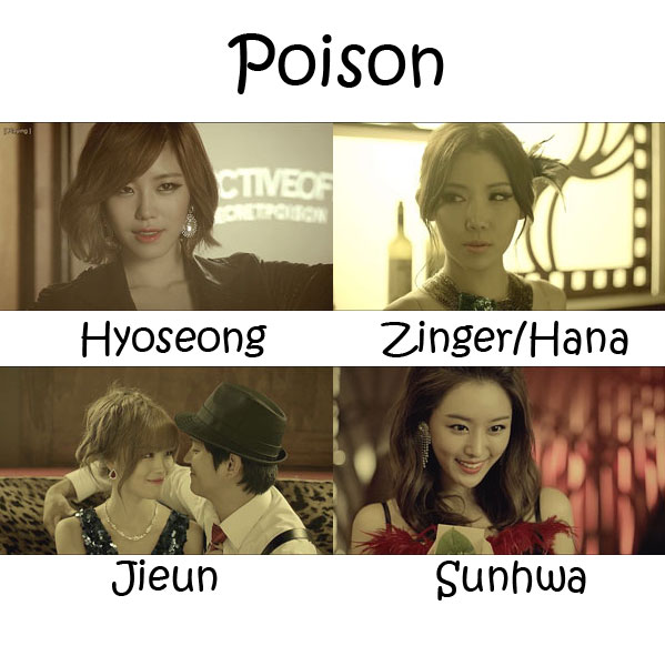 "The members of Secret in the ""Poison"" MV"