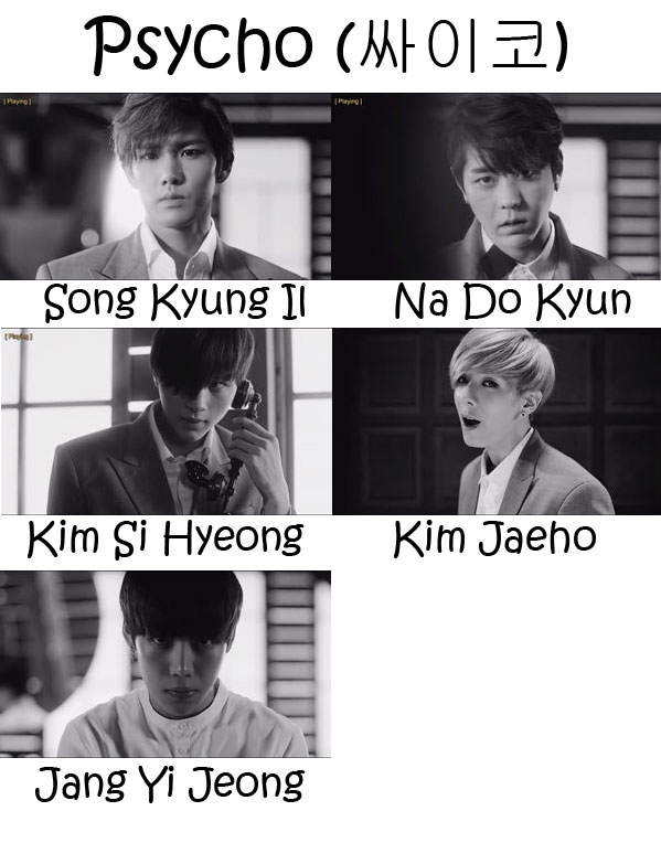 """The members of History in the """"Psycho"""" MV"""