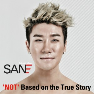 "Album art for San.E's album ""Not Based On The True Story"""