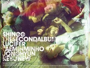"Album art for SHINee's album ""Lucifer"""