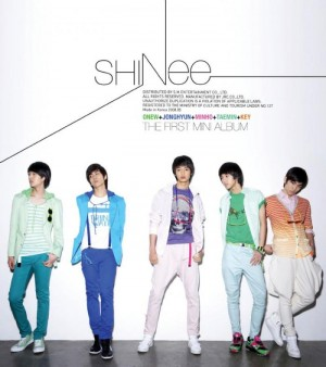 "Album art for SHINee's album ""Replay (Noona You're So Pretty"""