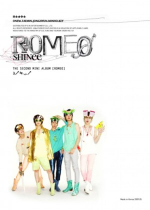 "Album art for SHINee's album ""Romeo"""