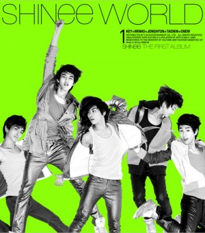 "Album art for SHINee's album ""The SHINee World"""