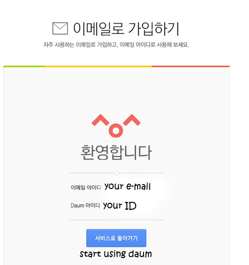Final step for joining daum