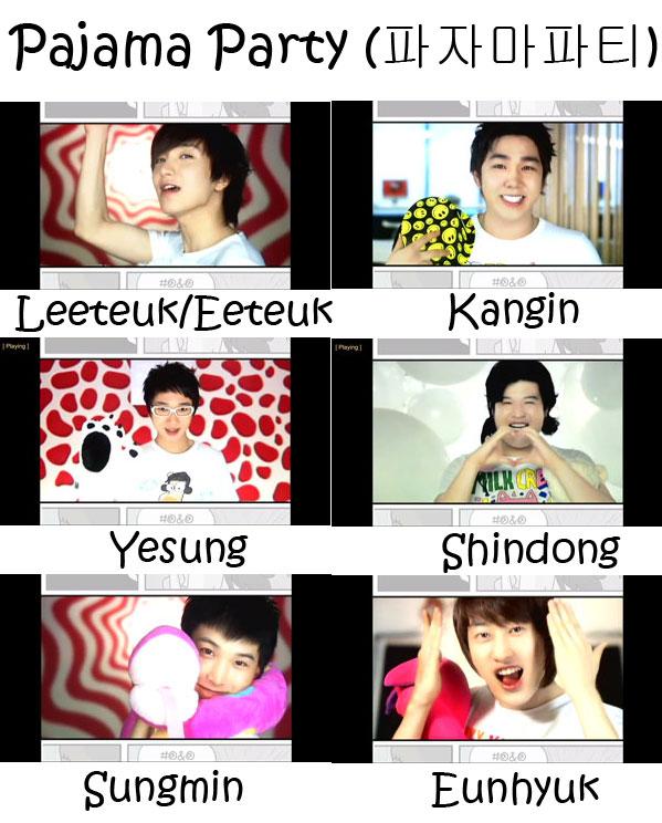 """The members of Super Junior's sub-unit Super Junior - H in the """"Pajama Party"""" MV"""