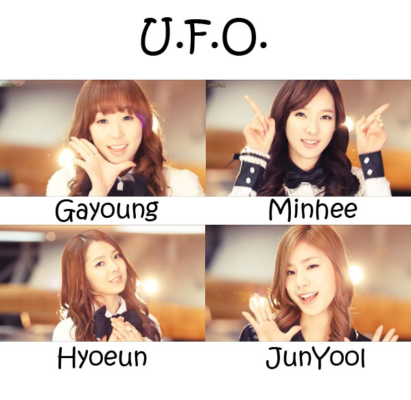 "The members of Stellar in the ""U,F.O,"" MV"