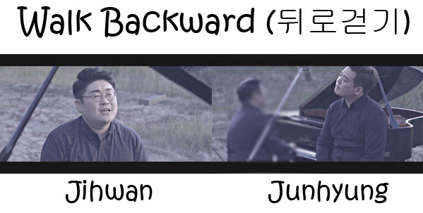 "The members of 2BiC in the ""Walk Backward"" MV"