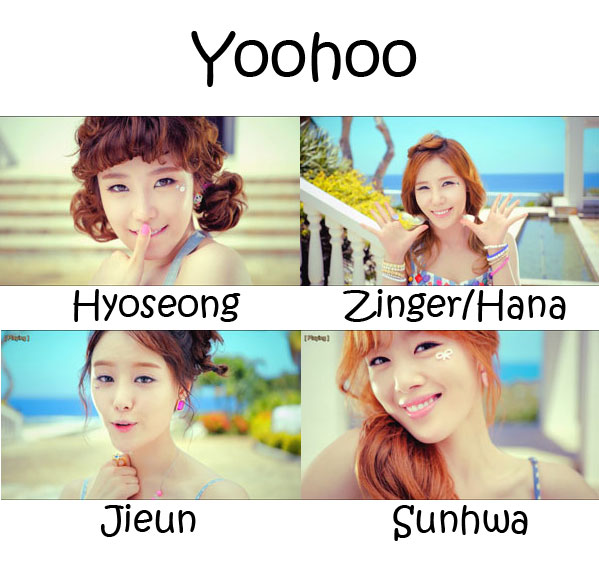 "The members of Secret in the ""Yoohoo"" MV"
