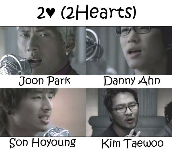 "The members of g.o.d in the ""2Hearts"" MV"