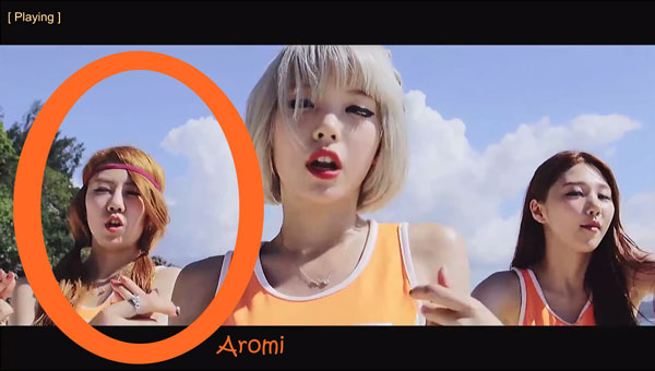 "Aromi from Scarlet in the ""Hip Song"" MV"
