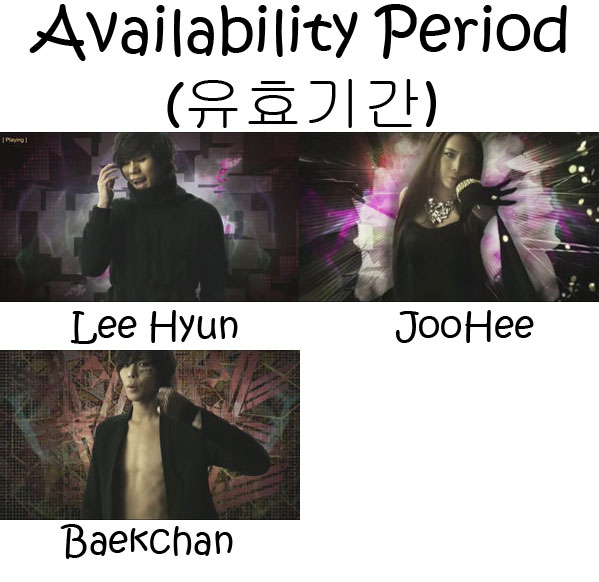 """The members of 8eight in the """"Availability Period"""" MV"""