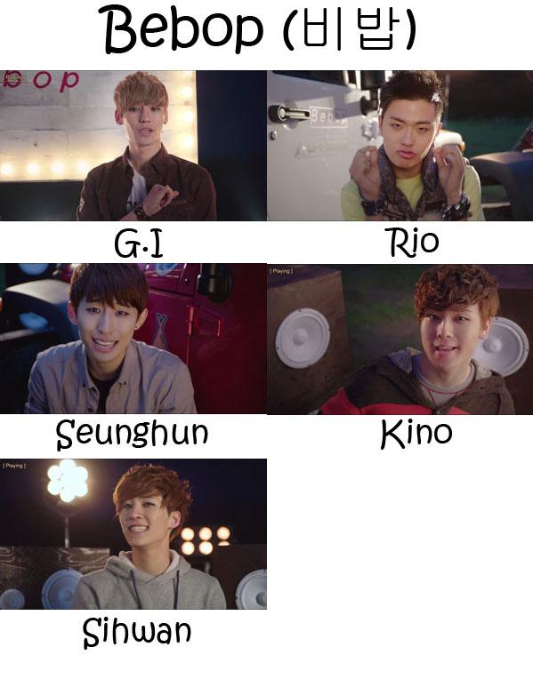 "The members of Offroad in the ""Bebop"" MV"