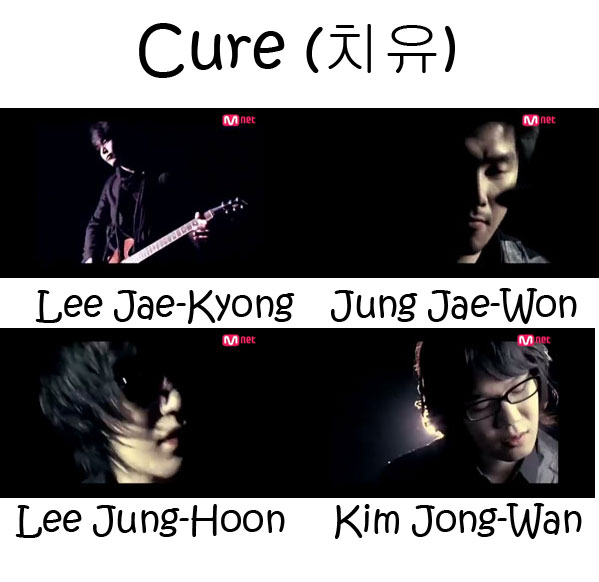 "The members of Nell in the ""Cure"" MV"