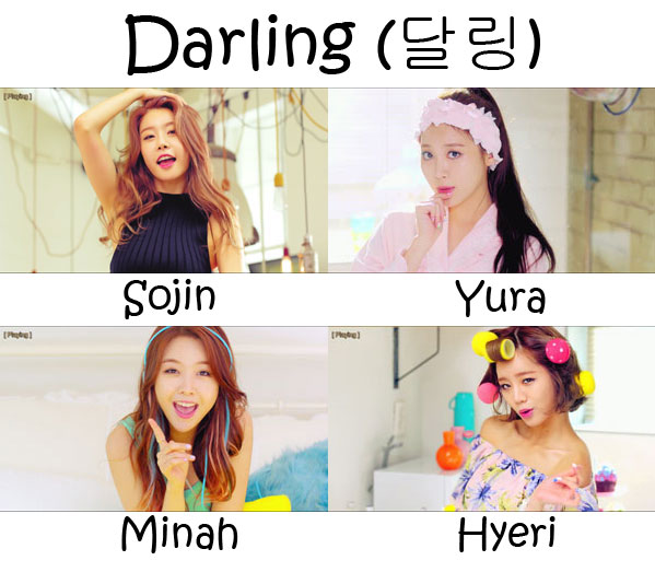 "The members of Girl's Day in the ""Darling"" MV"