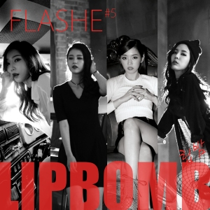 "Album art for Flashe's album ""Lip Bomb"""