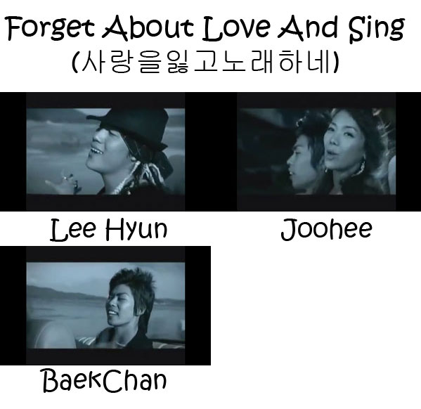 "The members of 8eight in the ""Forget About Love And Sing"" MV"