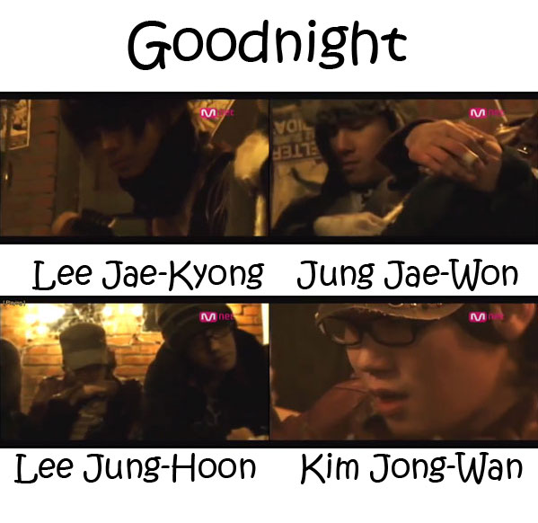 "The members of Nell in the ""Good Night"" MV"
