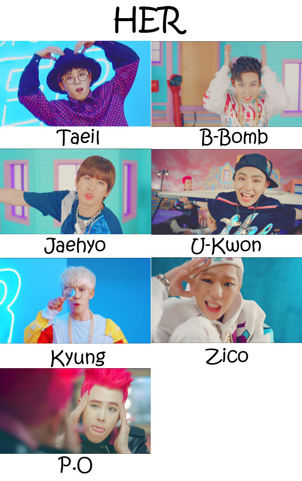 "The members of Block B in the  ""HER"" MV"