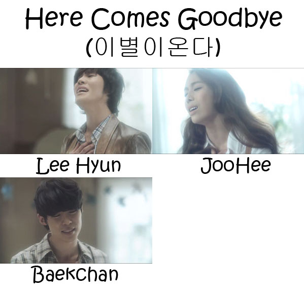 "The members of 8eight in the ""Here Comes Goodbye"""