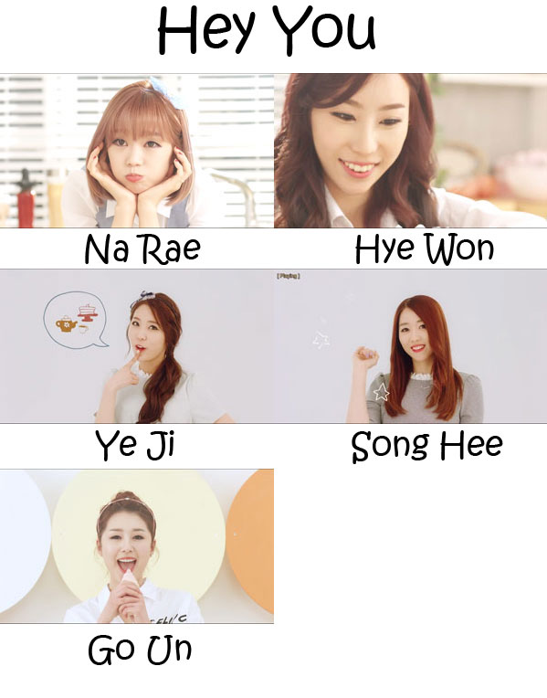 "The members of Flashe in the ""Hey You"" MV"